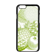 Fruits Vintage Food Healthy Retro Apple Iphone 6/6s Black Enamel Case by Nexatart