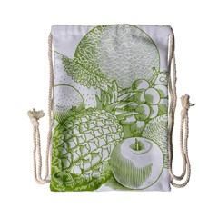 Fruits Vintage Food Healthy Retro Drawstring Bag (small) by Nexatart