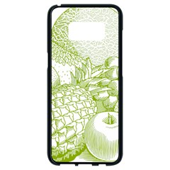 Fruits Vintage Food Healthy Retro Samsung Galaxy S8 Black Seamless Case by Nexatart