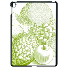 Fruits Vintage Food Healthy Retro Apple Ipad Pro 9 7   Black Seamless Case by Nexatart