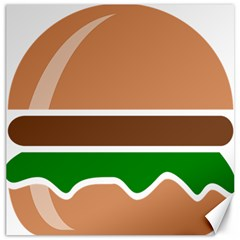Hamburger Fast Food A Sandwich Canvas 20  X 20   by Nexatart