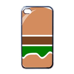 Hamburger Fast Food A Sandwich Apple Iphone 4 Case (black)