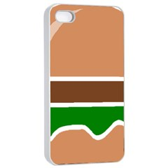 Hamburger Fast Food A Sandwich Apple Iphone 4/4s Seamless Case (white)