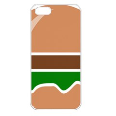 Hamburger Fast Food A Sandwich Apple Iphone 5 Seamless Case (white) by Nexatart
