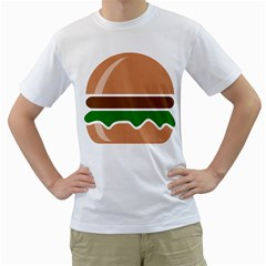 Hamburger Fast Food A Sandwich Men s T Shirt (white)