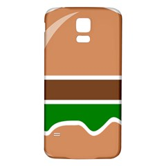 Hamburger Fast Food A Sandwich Samsung Galaxy S5 Back Case (white)