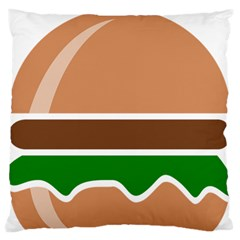 Hamburger Fast Food A Sandwich Large Flano Cushion Case (one Side) by Nexatart