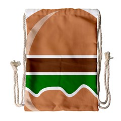 Hamburger Fast Food A Sandwich Drawstring Bag (large)