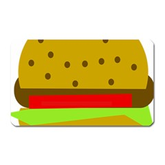 Hamburger Food Fast Food Burger Magnet (rectangular)