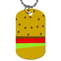Hamburger Food Fast Food Burger Dog Tag (two Sides) by Nexatart