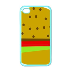 Hamburger Food Fast Food Burger Apple Iphone 4 Case (color) by Nexatart
