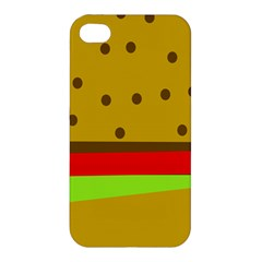 Hamburger Food Fast Food Burger Apple Iphone 4/4s Hardshell Case by Nexatart