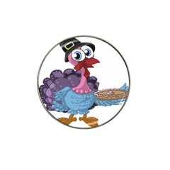 Turkey Animal Pie Tongue Feathers Hat Clip Ball Marker by Nexatart