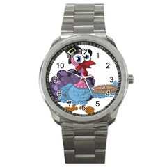 Turkey Animal Pie Tongue Feathers Sport Metal Watch by Nexatart