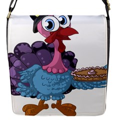 Turkey Animal Pie Tongue Feathers Flap Messenger Bag (s)
