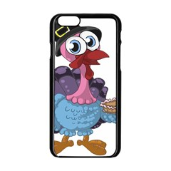 Turkey Animal Pie Tongue Feathers Apple Iphone 6/6s Black Enamel Case by Nexatart