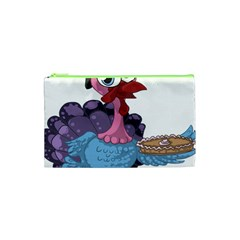 Turkey Animal Pie Tongue Feathers Cosmetic Bag (xs)