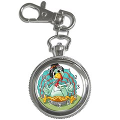 Pie Turkey Eating Fork Knife Hat Key Chain Watches by Nexatart