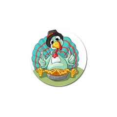 Pie Turkey Eating Fork Knife Hat Golf Ball Marker by Nexatart