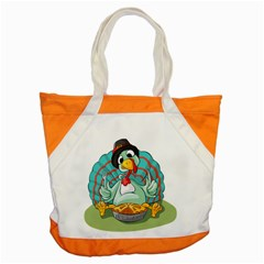 Pie Turkey Eating Fork Knife Hat Accent Tote Bag by Nexatart