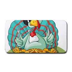 Pie Turkey Eating Fork Knife Hat Medium Bar Mats by Nexatart