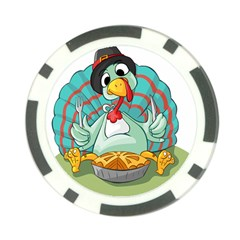 Pie Turkey Eating Fork Knife Hat Poker Chip Card Guard by Nexatart