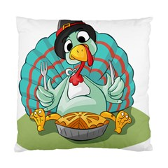 Pie Turkey Eating Fork Knife Hat Standard Cushion Case (two Sides) by Nexatart