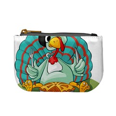 Pie Turkey Eating Fork Knife Hat Mini Coin Purses by Nexatart