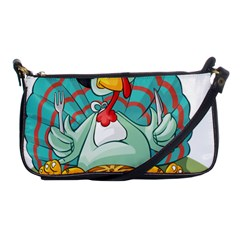 Pie Turkey Eating Fork Knife Hat Shoulder Clutch Bags by Nexatart