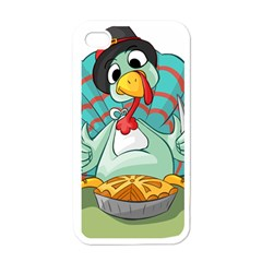 Pie Turkey Eating Fork Knife Hat Apple Iphone 4 Case (white) by Nexatart