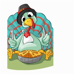 Pie Turkey Eating Fork Knife Hat Small Garden Flag (two Sides) by Nexatart