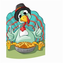 Pie Turkey Eating Fork Knife Hat Large Garden Flag (two Sides) by Nexatart