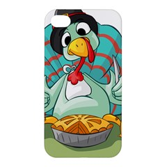 Pie Turkey Eating Fork Knife Hat Apple Iphone 4/4s Premium Hardshell Case