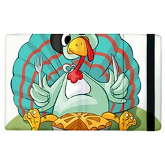 Pie Turkey Eating Fork Knife Hat Apple Ipad 2 Flip Case
