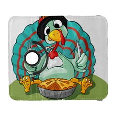 Pie Turkey Eating Fork Knife Hat Galaxy S3 (flip/folio) by Nexatart