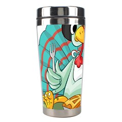 Pie Turkey Eating Fork Knife Hat Stainless Steel Travel Tumblers by Nexatart