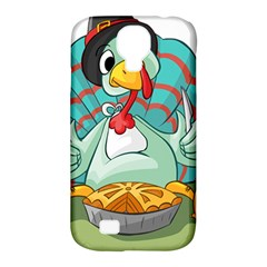 Pie Turkey Eating Fork Knife Hat Samsung Galaxy S4 Classic Hardshell Case (pc+silicone) by Nexatart