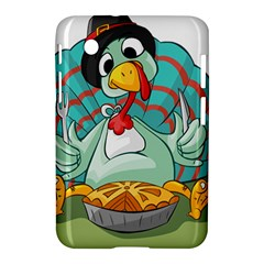 Pie Turkey Eating Fork Knife Hat Samsung Galaxy Tab 2 (7 ) P3100 Hardshell Case  by Nexatart