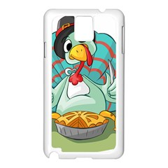 Pie Turkey Eating Fork Knife Hat Samsung Galaxy Note 3 N9005 Case (white) by Nexatart