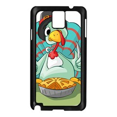 Pie Turkey Eating Fork Knife Hat Samsung Galaxy Note 3 N9005 Case (black) by Nexatart