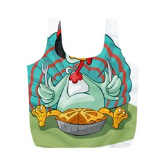 Pie Turkey Eating Fork Knife Hat Full Print Recycle Bags (m)  by Nexatart