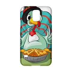 Pie Turkey Eating Fork Knife Hat Samsung Galaxy S5 Hardshell Case  by Nexatart