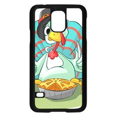 Pie Turkey Eating Fork Knife Hat Samsung Galaxy S5 Case (black) by Nexatart