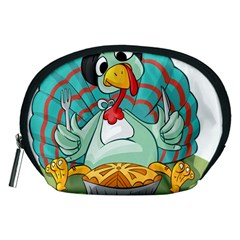 Pie Turkey Eating Fork Knife Hat Accessory Pouches (medium)  by Nexatart