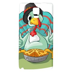 Pie Turkey Eating Fork Knife Hat Galaxy Note 4 Back Case by Nexatart