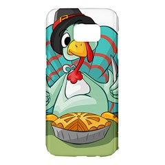 Pie Turkey Eating Fork Knife Hat Samsung Galaxy S7 Edge Hardshell Case by Nexatart