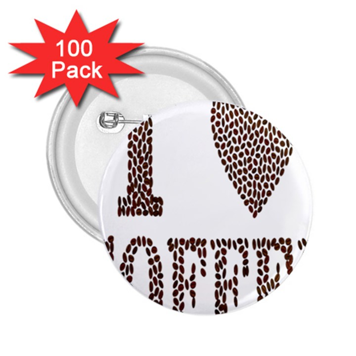 Love Heart Romance Passion 2.25  Buttons (100 pack)