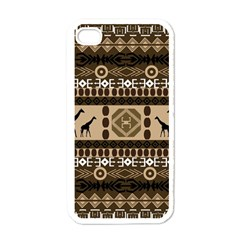 Giraffe African Vector Pattern Apple Iphone 4 Case (white) by BangZart