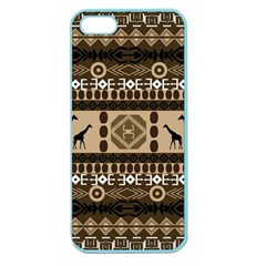 Giraffe African Vector Pattern Apple Seamless Iphone 5 Case (color)
