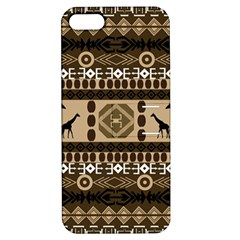 Giraffe African Vector Pattern Apple Iphone 5 Hardshell Case With Stand